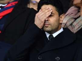 Al-Khelaïfi estuda um pedido de ajuda ao Catar para salvar a Ligue 1. AFP