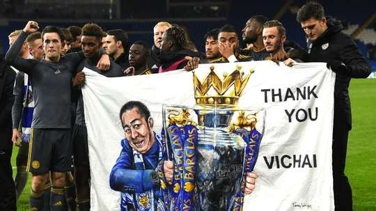 Leicester return to King Power Stadium for emotional farewell to Vichai