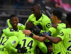 Pepe helped to extend Lille's lead in the table. AFP