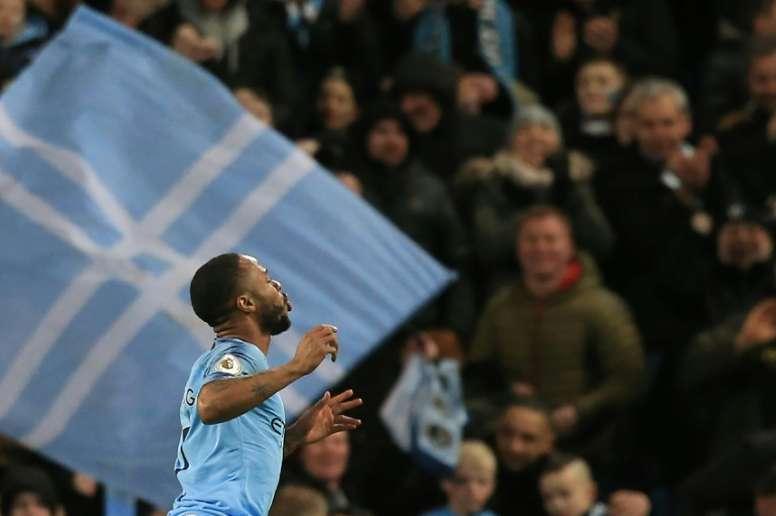Raheem Sterling est l'un des porte-paroles de la lutte contre le racisme en football. AFP