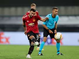 Bruno Fernandes is keen to lift the Europa League on Friday. AFP