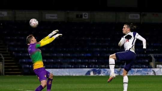 Gareth Bale fez um dos quatro gols do Tottenham. AFP