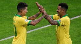 Firmino and Jesus were Brazil's heroes. AFP