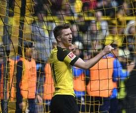 Reus was sent off in Dortmund's loss to Schalke. AFP