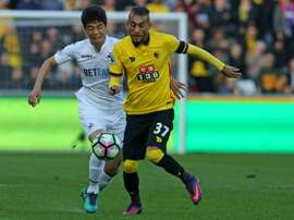 Pereyra isn't worried by pundit's talk of relegation. AFP