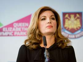 Karren Brady explained how Premier League stadia would be once games resume. AFP