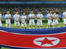 North Korean football players.