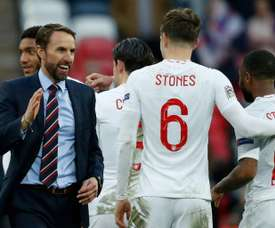 England beat Croatia to qualify for the Nations League semi-finals. AFP