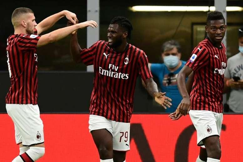 Milan venceu sem Ibra no jogo. AFP
