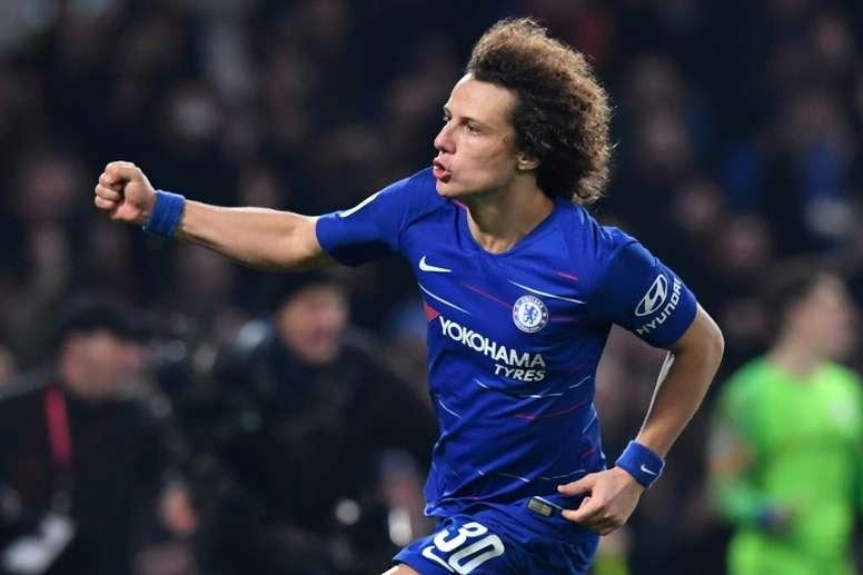 David Luiz analizó la probable salida de Hazard. AFP