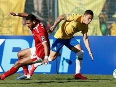 Al-Ahly (L) beat Mamelodi to reach the CAF Champions League semi-finals. AFP
