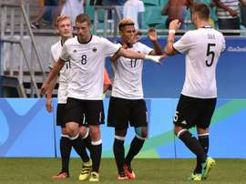Alemania sigue con el rodillo en funcionamiento y ya está en 'semis'. AFP