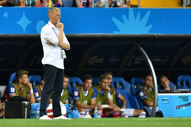 Hallgrimsson is due to take over Al-Arabi, a Qatari league side. AFP