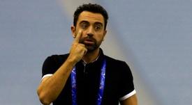 Xavi todavía no quiere hablar de una vuelta a la Ciudad Condal. AFP