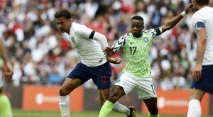 Alli took part in a 2-1 win over Nigeria. AFP