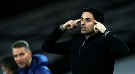 O Arsenal de Arteta volta a pensar em Freddie Woodman. AFP