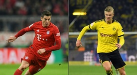 Haaland v Lewandowski, a clash for the ages. AFP