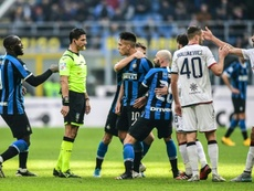 Inter frustrations boil over in Serie A, Roma end Lazio's historic run. AFP
