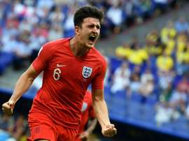 Football fans are hoping to see Harry Maguire immortalised on the new £50 note. AFP