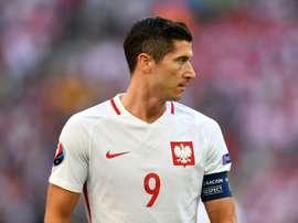 Lewandowski se convirtió en el máximo goleador en Europa. AFP