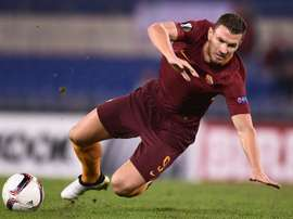 Romas Edin Dzekofired a series of blanks as Roma were held to a scoreless draw at Empoli. AFP