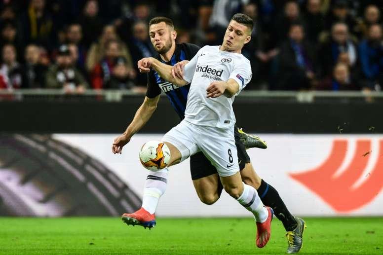 Luka Jovic will play for Real Madrid next season. AFP