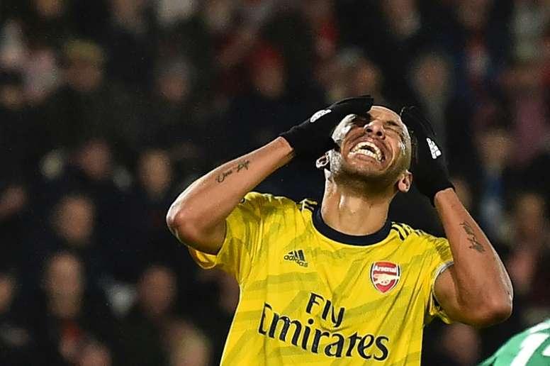 Aubameyang pidió ser el jugador mejor pagado de la historia del Chelsea. AFP