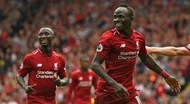 Mane struck with his fourth of the season. AFP