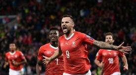 El Suiza-Ucrania se jugará, según la UEFA. AFP/Archivo