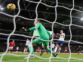 United a craqué face à Tottenham. AFP