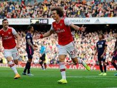 avid Luiz scored his first Arsenal goal to secure a 1-0 win over Bournemouth. AFP