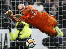 Caballero is Chelsea's cup keeper. AFP