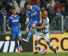 Mário Rui podría acabar en la Sampdoria. AFP