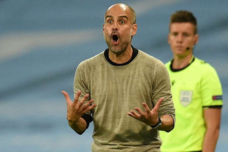 Pep Guardiola is aware Man City face a tough Champions League tie with Lyon on Saturday. AFP