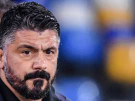 Napoli coach Gattuso says Messi is even better than Maradona. AFP
