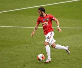 Bruno Fernandes marcou o gol da classificação do Manchester United. AFP/arquivo