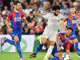 198fc08f55 Liverpool's Mohamed Salah was involved in controversy at Crystal Palace. AFP