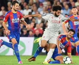 Les compos probables du match de Premier League entre Liverpool et Crystal Palace. AFP