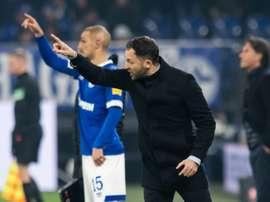 El Schalke empató a dos contra el Hertha. AFP