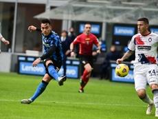 Lautaro hat-trick sends six-goal Inter Milan top of Serie A. AFP