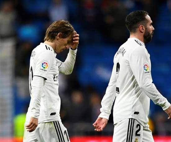 A decepção voltou ao Bernabéu. AFP