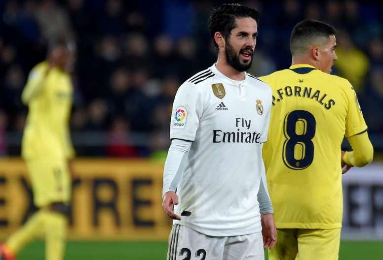 Isco has yet to play under Solari in La Liga. AFP