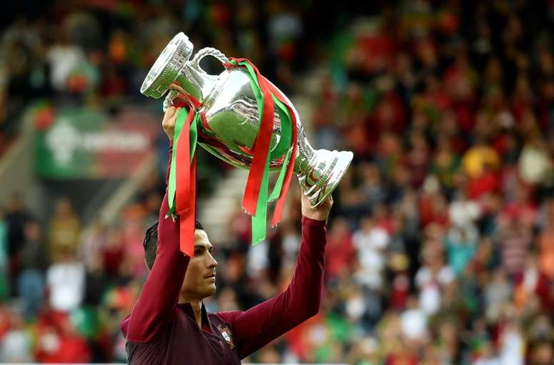 Ronaldo won Euro 2016 with Portugal. AFP