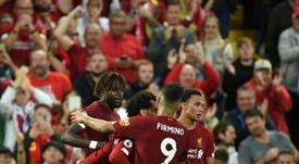 El Liverpool arrasó en Anfield. AFP