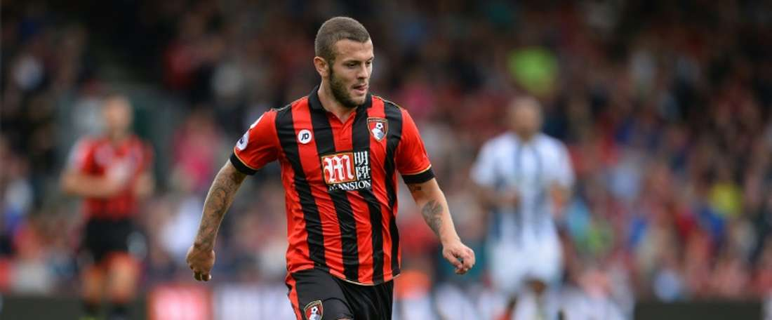 Bournemouth midfielder Jack Wilshere controlling the ball. AFP