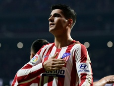 Alvaro Morata helped Atletico Madrid get the three points versus Athletic Bilbao. AFP