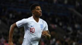 Rashford scored twice while on England duty. AFP