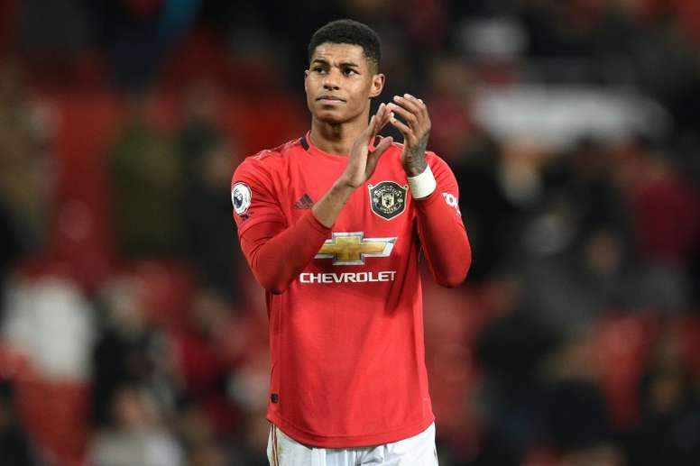 Rashford has fought to prevent child hunger. AFP