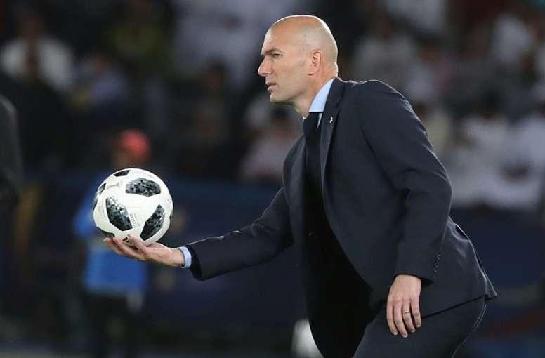 Zidane tem muito a tratar, de momento, no Real. AFP