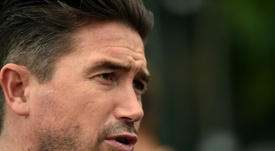 Harry Kewell has taken over as Oldham Athletic manager. AFP